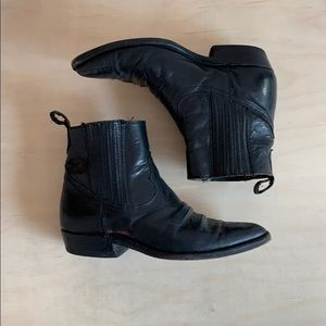 Shoes - Botte cowboy cuir vintage